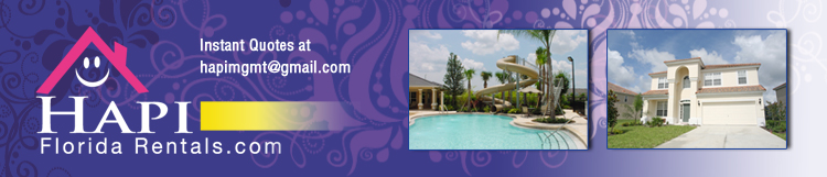 Hapi Florida Rentals, Vacation Homes at Windsor Hills, Emerald Island and Reunion Resorts Kissimmee